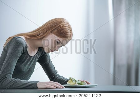 Young Girl Following Strict Diet