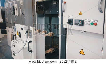 Industrial equipment - electronic apparatus - high-tech object, close up