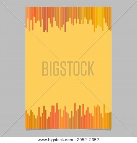 Geometrical abstract page, brochure template - blank vector flyer background design with vertical stripes