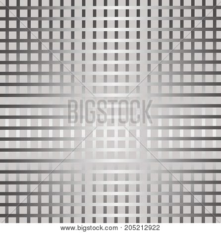 Grid seamless pattern on white and gray gradient background