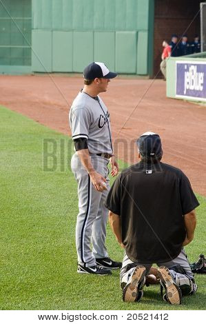 Boston - May 30: Starting Pitcher #44 Jake Peavy Before Memorial Day Game Against The Red Sox On May