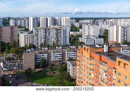 Moscow, Russia - September 20. 2017. Zelenograd city is a sleeping area