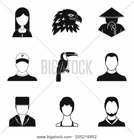 Hypocrite icons set. Simple set of 9 hypocrite vector icons for web isolated on white background