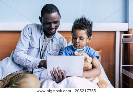 African American Family With Tablet