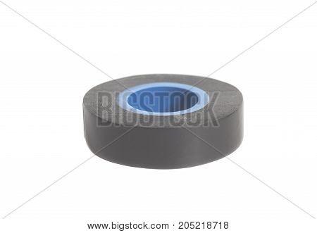 Roll of sticky insulating scotch tape on white