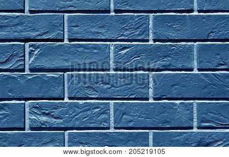 Blue Toned Brick Wall Pattern.