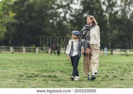 Stylish Family At Countryside