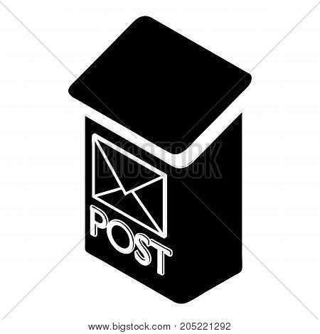 Apartment post box icon. Simple illustration of apartment post box vector icon for web design isolated on white background