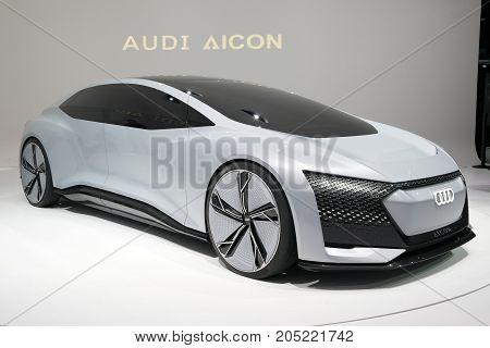 New Audi Aicon Self Driving Electric Concept Car