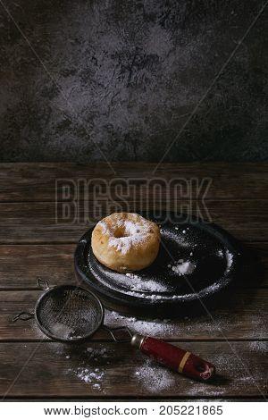Homemade Donut With Sugar Powder