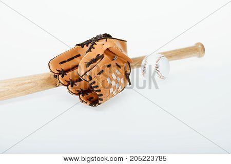 Baseball Bat, Ball And Mitt