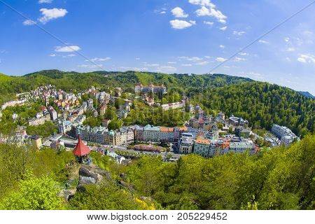 Great Spa town in the west part of Bohemia - Karlovy Vary (Karlsbad) - Czech Republic