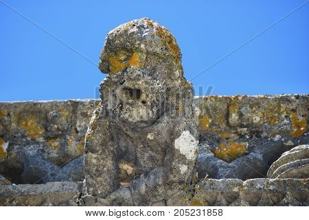 Gargoyle In Convent Of The Order Of Christ, Tomar, Portugal,
