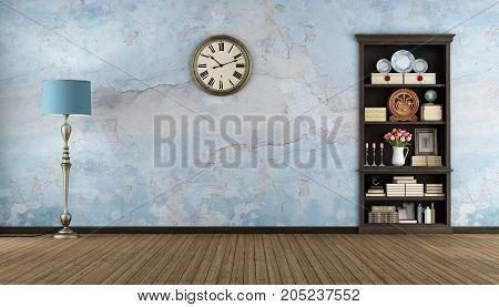 Retro Room With Bookcase
