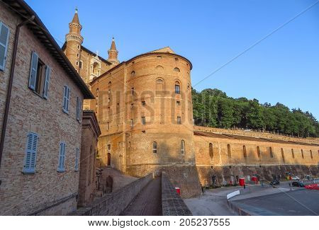 Ducale Palace in Urbino city Marche Italy