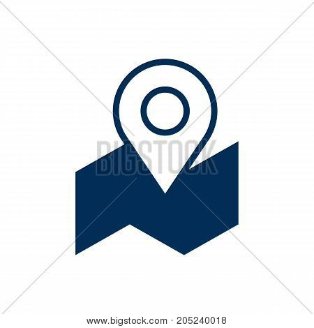 Vector Pinpoint Element In Trendy Style.  Isolated Map Icon Symbol On Clean Background.