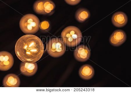 Garland Of Vintage Bulb Lamps