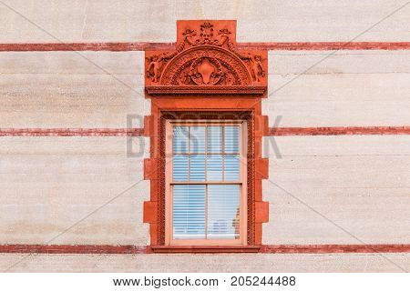 Windows on facade of Flagler College front view Saint Augustine USA