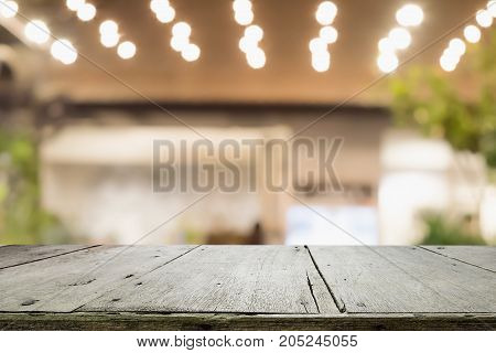 Empty Wooden Table For Present Product.
