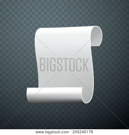 Gray tapes template set. Curled paper ribbons. Ancient papyrus collection. Vector illustration.