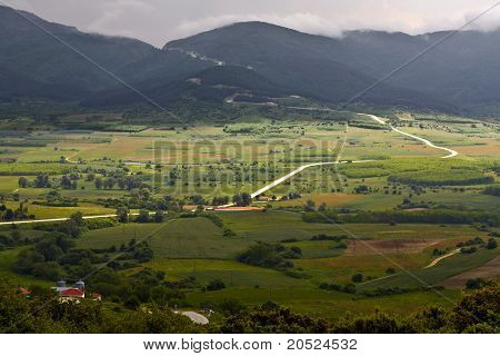 Valley at mountain Olympus in Greece