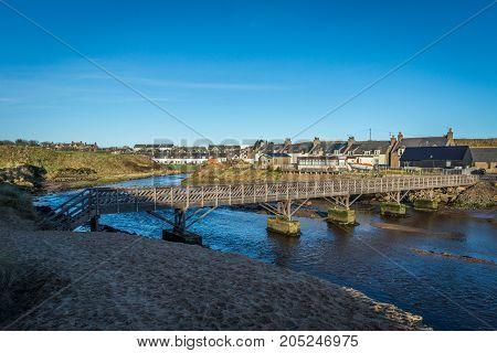 Footbridge over a stream in Cruden Bay.