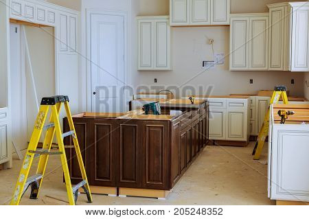 Interior Design Construction Of A Kitchen With Cooker Extractor