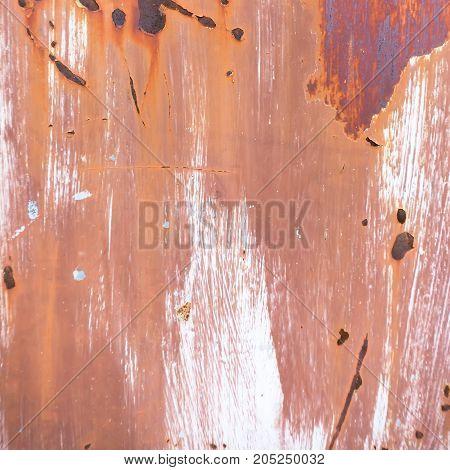 Rustic grunge old rusty metal door background