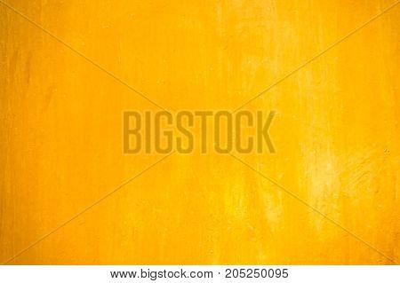 Textures Of Orange Painted Grunge Concrete Background