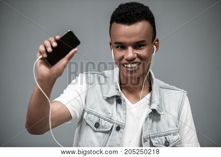 Afro American Guy With Gadget
