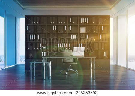 Ceo Office Interior, Bookcase Toned