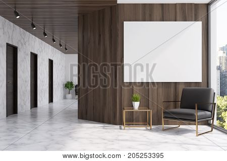 Marble And Wooden Elevator Hall, Poster