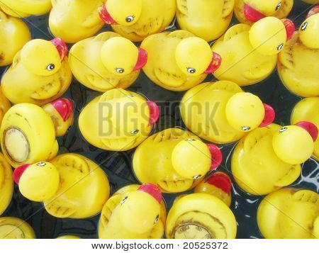 Duck game at a fair or carnival