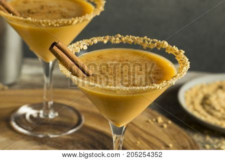 Sweet Homemade Pumpkin Vodka Martini