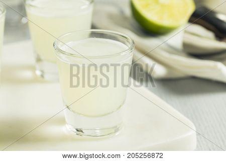 Boozy Lime  And Vodka Kamikaze Shots
