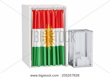 Iraqi Kurdistan referendum concept 3D rendering isolated on white background