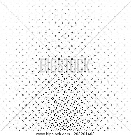 Monochromatic abstract square pattern background - black and white geometrical vector illustration from angular squares