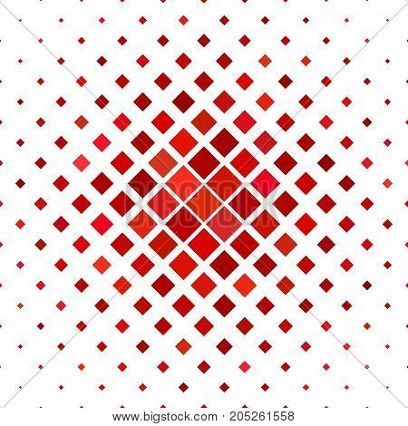 Colored square pattern background - geometrical vector illustration from diagonal squares in red tones