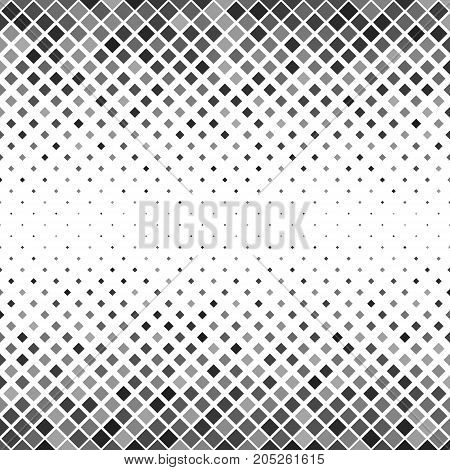 Abstract square pattern background - geometrical vector illustration from diagonal squares in grey tones