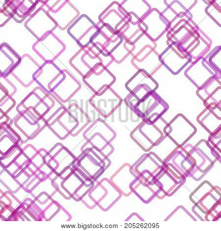 Seamless geometrical square background pattern - vector illustration from random diagonal squares in purple tones with opacity effect