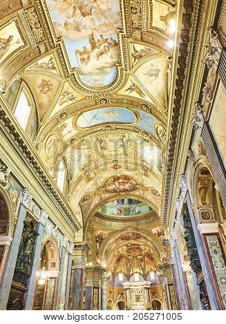 Santuario Della Beata Vergine Del Rosario. Pompei, Italy.
