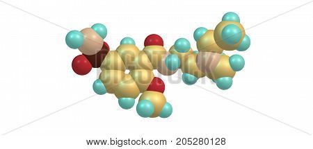 Sulpiride is an antipsychotic drug of the benzamide class used mainly in the treatment of psychosis associated with schizophrenia and major depressive disorder. 3d illustration