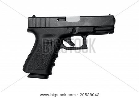 Semi Auto Handgun With Clipping Path