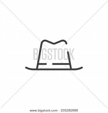Hat line icon, outline vector sign, linear style pictogram isolated on white. Symbol, logo illustration. Editable stroke