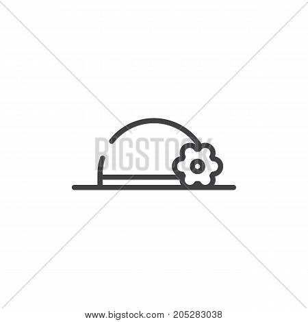 Hat pamela line icon, outline vector sign, linear style pictogram isolated on white. Symbol, logo illustration. Editable stroke