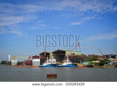 Landscape Of Saigon River In Southern Vietnam
