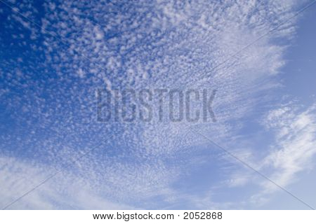 the sky with a funny clouds pattern poster
