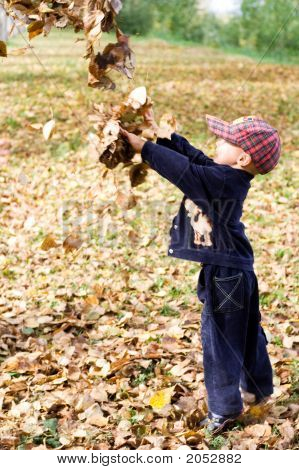 Boy With Leaves 2