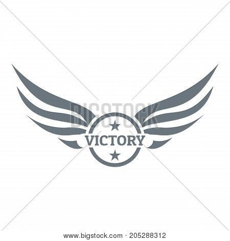 Win wing logo. Simple illustration of win wing vector logo for web