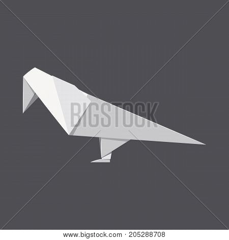 Origami parrot concept background. Realistic illustration of origami parrot vector concept background for web design